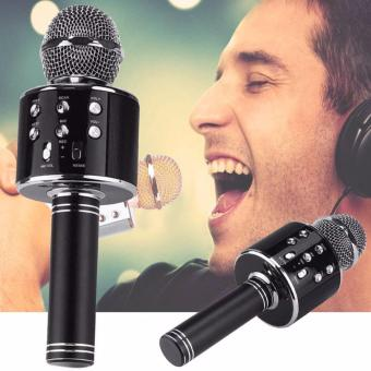 WS-858 Wireless Karaoke Bluetooth Microphone HIFI Speaker (Black))