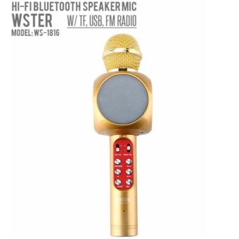 WSTER WS-1816 Wireless Bluetooth Karaoke Handheld Mic PlayerSpeaker KTV Microphone - 2