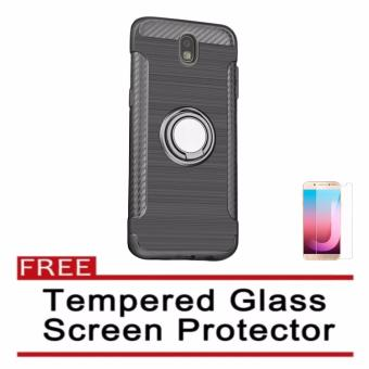 X-Level Guardian Case With Ring Stand For Samsung Galaxy J7 Pro(Grey) with FREE Tempered Glass Screen Protector (Clear) Price Philippines