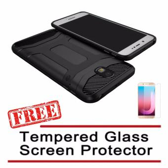 X-Level Guardian Soft Shockproof Case For Samsung Galaxy J7 Pro(Black) with FREE Tempered Glass Screen Protector (Clear) Price Philippines
