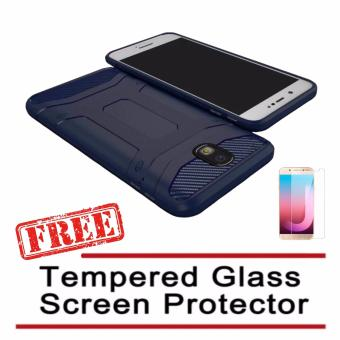 X-Level Guardian Soft Shockproof Case For Samsung Galaxy J7 Pro(Blue) with FREE Tempered Glass Screen Protector (Clear) Price Philippines