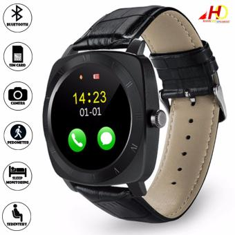 X3 Bluetooth Smart Watch Pedometer Fitness Clock Support Sim Card and TF Card (Black)
