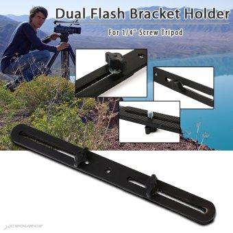 XCSOURCE Dual Flash Bracket Holder Tripod Light Stand