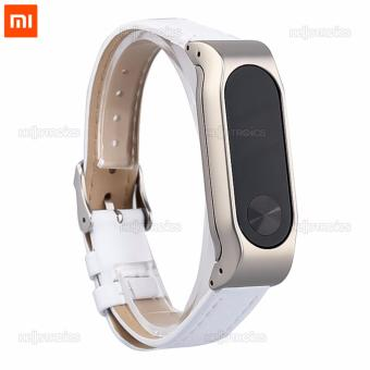 Xiaomi Mi Band 2 Replacement Leather Wrist Strap (White) - 4