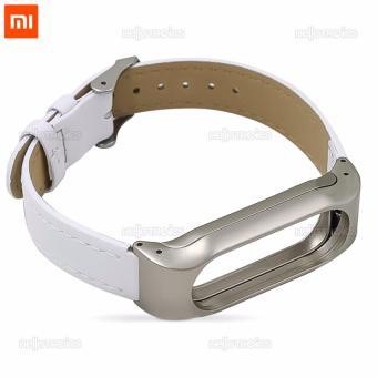 Xiaomi Mi Band 2 Replacement Leather Wrist Strap (White) - 2
