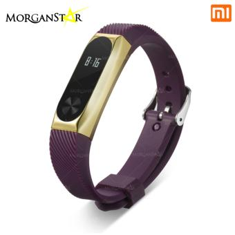 Xiaomi Mi Band Smart Bracelet Fashionable Wrist Strap with MetalFrame (Violet)