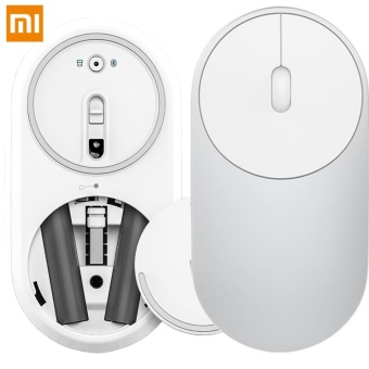Xiaomi Portable Mouse Mi Mouse Bluetooth 4.0 / RF 2.4GHz Wireless Dual Modes Connection for PC Laptop (Silver)