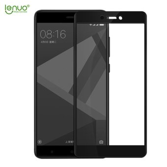 Xiaomi Redmi 4X Screen Protector, Lenuo Full Cover 9H 0.3mmAnti-Scratch Anti-Explosion Tempered Glass HD 2.5D Protective FilmScreen Protector for Xiaomi Redmi 4X - Black - intl