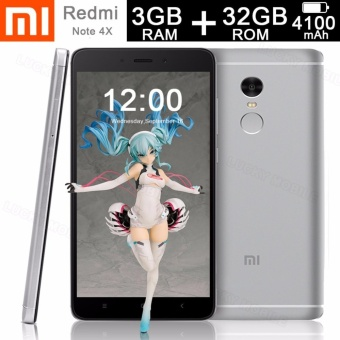 Xiaomi Redmi Note 4X 3GB RAM 32GB ROM Octa Core 2.0GHz (Silver Grey)