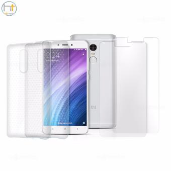 Xiaomi Tempered Glass Set of 2 (Clear) with 2 Jelly Case (Clear) for Mi Note 4