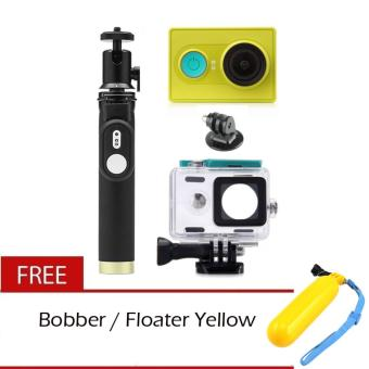 XiaoMi Yi 16MP Sports and Action Camera with Kingma WaterproofCase, Yi Monopod and Yi Remote Shutter Free Bobber Floater
