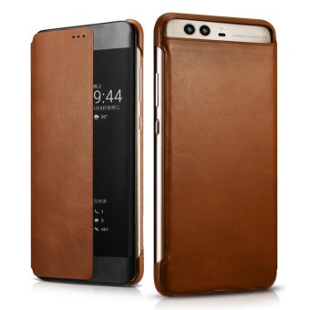 Xoomz Luxury Genuine Leather Case for Huawei P10 Plus Phone CasesSmart Flip Cover Wallet Capa Coque - intl