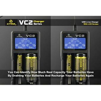 XTAR VC2 Premium USB Charger w/ LCD Screen Display (MC Series Upgrade) Li-ion Battery Charger(no include batteries) - 3