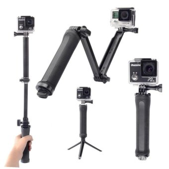 XTERMO 3 Way Extendable Monopod Pole With Tripod Adapter for GoProHero 5 4 SJCAM EKEN XIAOYI - BLACK - intl Price Philippines