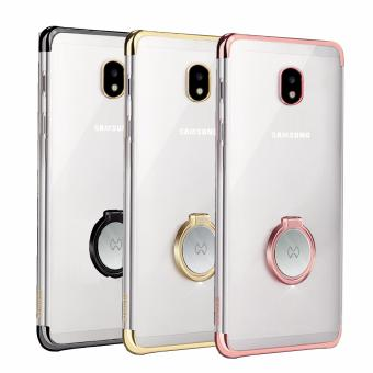 XUNDD Ultra Clear Slim Case X-Ring Stand for Samsung Galaxy J7 Pro(Rose Gold) - 2