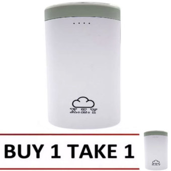XZY 1012 20000mAh Double USB Port Power Bank (White/Grey) BUY 1 TAKE 1