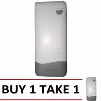 XZY 1040 20000mAh Power Bank Double USB (White/Grey) BUY1 TAKE1