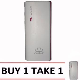 XZY 1041 20000mAh Power Bank Double USB (White/Maroon) BUY1 TAKE1