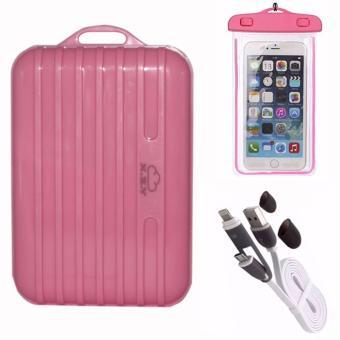 XZY 1044 20000mAH Single USB Port Power Bank (Pink)with USB Cord(color may vary)and Waterproof Case (color may vary) Price Philippines