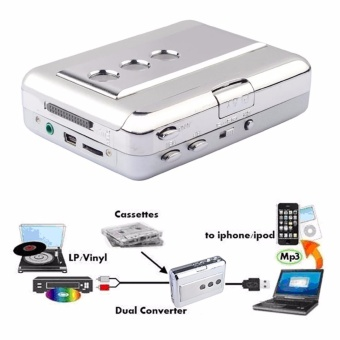 Y&H Portable Cassette Tape Player LP/Vinyl Convert Tapes to MP3 Digital Record Capture With Audio Output ezcap218 (Silver) - intl - 5
