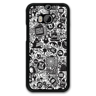 Y&M Abstract Black Pattern Phone Case HTC M8 (Multicolor)