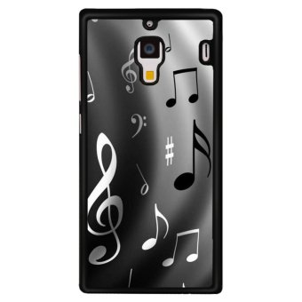 Y&M Black Music Note Phone Case for Red Mi 1S (Multicolor)