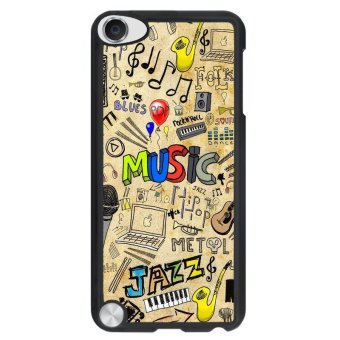 Y&M Cell Phone Case For iPod Touch 5 Love Music Pattern Cover(Multicolor)