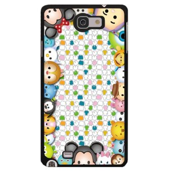 Y&M Cell Phone Case For Samsung Galaxy Note 1 Cute ComicPrinted Cover (Multicolor)