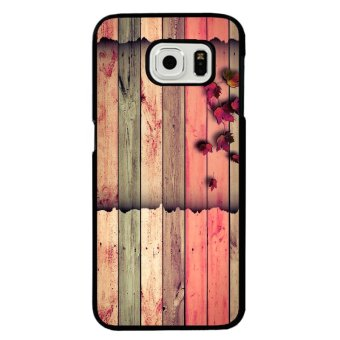 Y&M Cell Phone Case For Samsung Galaxy S6 Beautiful WoodPrinted Cover (Multicolor)