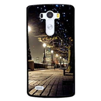 Y&M Peace Christmas Night Phone Case for LG G4 (Black)