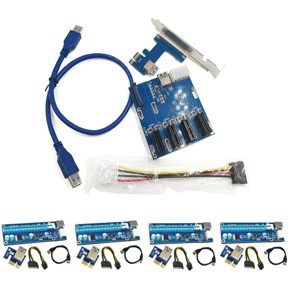 Philippines Ybc 4 Set Usb30 Pci E Express 1x To 16x Extender Riser Card Solid Capacitor Cardadapter