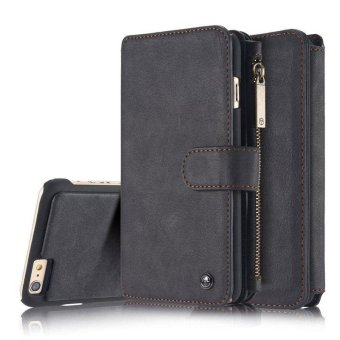 YBC Genuine Leather Wallet Card Case Cover For iPhone 6 Plus - intl