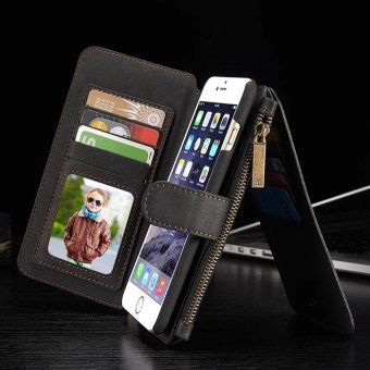YBC Genuine Leather Wallet Card Case Cover For iPhone 6s Plus -intl - 2