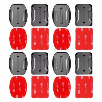 YICOE 4pcs Flat and Curved Base Adhesive Mount 3M VHB Stickers forGo pro 5 4 3 Xiaomi Yi 4k SJCAM SJ4000 EKEN H9 Action Sport CameraAccessories
