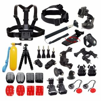 YICOE Bundle Kit Mount Tripod Strap Monopod Clip for Go pro 5 4 3Xiaomi Yi 4k SJCAM SJ4000 EKEN H9 Action Sport Camera Accessories