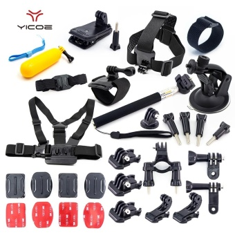 Yicoe Kit Case Tripod Strap Mount Monopod for Gopro Accessories forGo Pro Hero Session 5 4 3 SJCAM SJ6 SJ7 Xiaomi yi 4k Sport Camera -intl