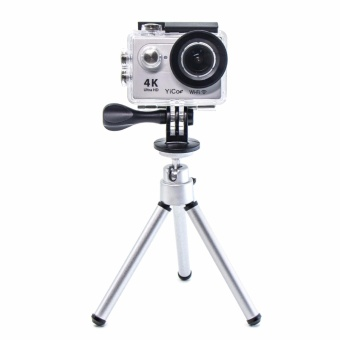 YICOE Mini 150-200mm Aluminum Silver Folding Tripod StandAdjustable Camera Legs Mount For Gopro 5 4 3 SJCAM EKEN XIAOMI YIAction Sport Camera Accessories Price Philippines
