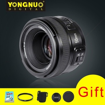 YONGNUO Standard Prime Auto Focus Lens YN 50MM F/1.8 + 58mm Lens Filter + Lens Pouch and other Gifts For Nikon Price Philippines