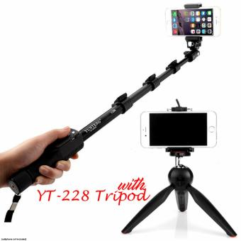 Yunteng YT-1288 Extendable Selfie Monopod with Shutter Remote Control (Black) with YT-228 Tripod