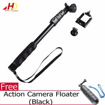 YunTeng YT-188 Universal Monopod for Mobile Phones and Sports Cameras (Black) with FREE Action Camera Floater (Black)