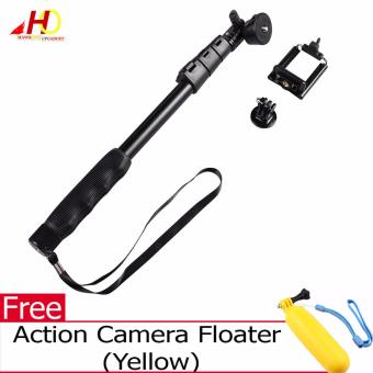 YunTeng YT-188 Universal Monopod for Mobile Phones and Sports Cameras (Black) with FREE Action Camera Floater (Yellow)