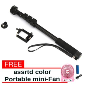 YunTeng YT-188 Universal Monopod for Mobile Phones and Sports Cameras with free Portable Mini-Fan