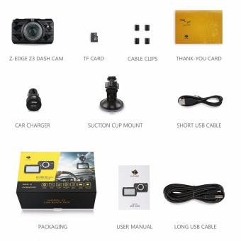 Z-Edge Z3 3-Inch 2K Ultra Full HD1296P 2560x1080 Car Dash Cam with 32GB Card & Parking Monitor - 5