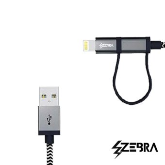Zebra 2 in 1 Charging Cable Android and iPhone - 2