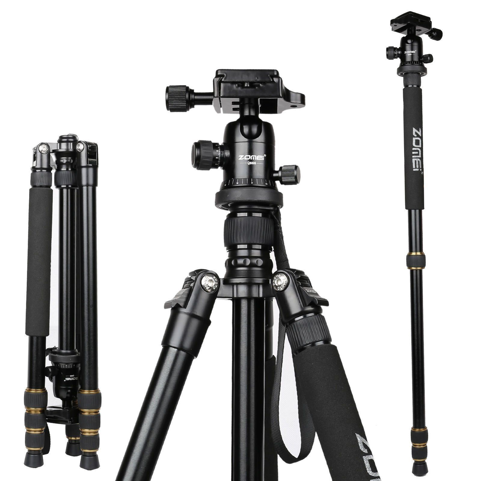 Philippines Zomei Q666 Portable Camera Aluminium Tripod Monopod Yunteng Yt 880 With Ball Head For Dslr Canon Nikon Sony Dv