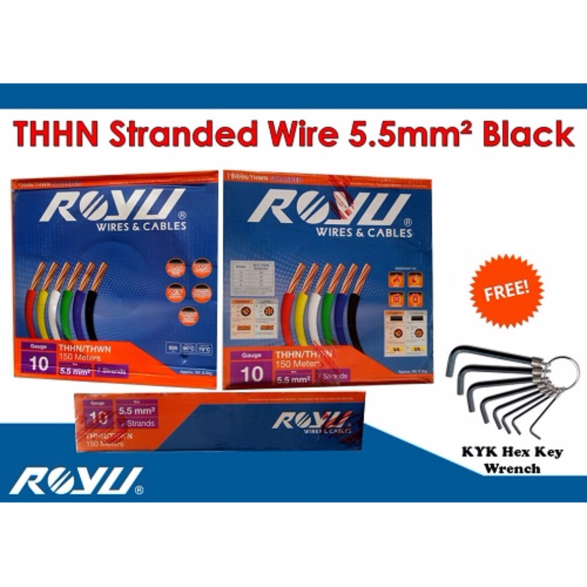 Philippines 1 box royu thhn stranded wire 55mm black with 1 box royu thhn stranded wire 55mm black with free hex key keyboard keysfo Image collections