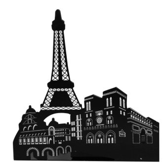 1 Pair of Famous Scenic Spots Style Metal Iron Desk Art BookendNon-skid Art Bookends Bookrack Book Ends Rack Eiffel Tower - intl Price Philippines