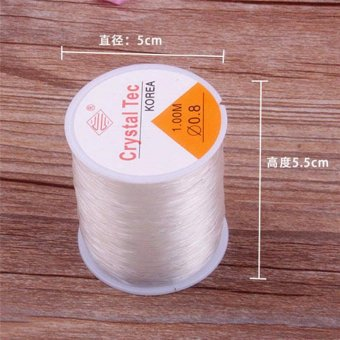 1 PC DIY 0.8mm 100 Meter Clear Stretch Elastic Beading Cord StringThread Spool Roll - intl - 2