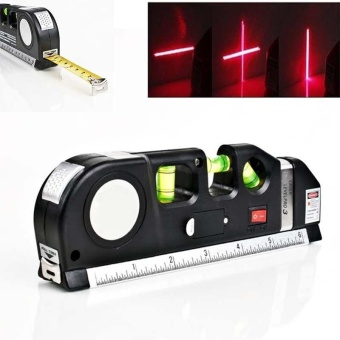 1 Pc Multipurpose Laser Level Horizon Vertical Measuring Tape 8FTAligner Ruler - intl