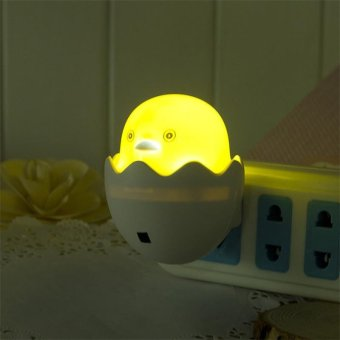 1 PC New Duck AC110-220V Wall Socket Light-control Sensor LED Night Light Bedroom lamp - intl